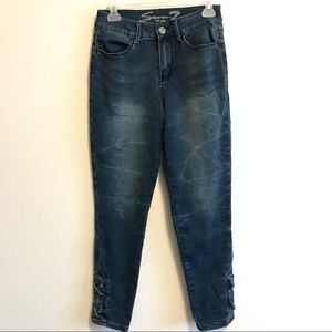 Seven 7 High Rise Skinny Jeans Dark Wash 6